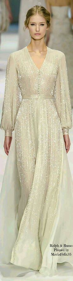 Ralph & Russo Haute Couture Collection 2015...Oh my I love so many things about this! first how beautiful the model is.  And then there is the dress...classic, timeless, gorgeous!