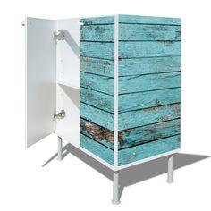Armario para lavabo con nuevo diseño moderno diseño: con diseño de: madera azul: Amazon.es: Hogar