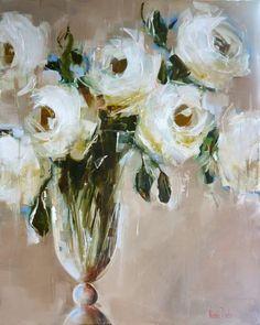 White Roses - 100x80cm - Nicole Pletts