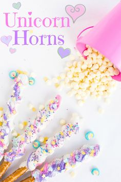 Crispy pretzel sticks wrapped in caramel, coated in white chocolate, and showered in sprinkles! Just 5 easy ingredients! Boy, has this been. Unicorn Themed Birthday Party, Unicorn Party, 5th Birthday, Birthday Ideas, Diy Unicorn Cake, Unicorn Cafe, Unicorn Cookies, Birthday Brunch, Birthday Desserts