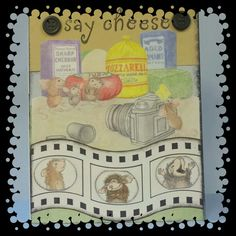 "House mouse card- ""say cheese"". So fun to make with house mouse stamp"