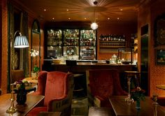 Very English clubby feel_Lounge at The Zetter Townhouse, London - photos by Jefferson Smith