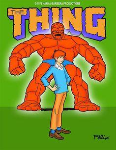 """The"" Thing (Hanna-Barbera, Old School Cartoons, Retro Cartoons, Old Cartoons, Cartoon Tv, Classic Cartoons, Vintage Cartoon, Cartoon Characters, Futurama, Desenhos Hanna Barbera"