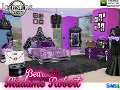 Madame robert Bedroom Baroque modern by jomsims at TSR via Sims 4 Updates