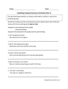 Multiplication Arrays Worksheets Pdf Combining Compound Sentences Worksheet Part   Worksheets  Wants And Needs Worksheets Pdf with Stoichiometry Worksheet With Answers This Fun Compound Sentences Worksheet Instructs The Student To Create A  Compound Sentence By Combining Two Simple Sentences With The Connecting  Words And  Converting Decimal To Fraction Worksheet Excel
