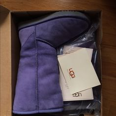 Purple tall UGG boots size 8 Worn once! Has a few spots that could be easily washed off. Will post more pics if asked! UGG Shoes