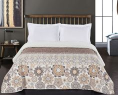 Cuvertura reversibila Alhambra Brown #homedecor #inspiration #interiordesign #bedroomdecor #decoration #design Comforters, Bedroom Decor, Layout, Quilts, Blanket, Interior Design, Brown, Furniture, Home Decor