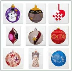 Christmas Tree Ornaments II By Fred  These ornaments look so real you think you can reach out and pick them up. They coordinate with Christmas Tree Ornaments. They would make a beautiful Mantle Cloth, Tree Skirt, or stitch them on felt and cut out to hang on the tree. Don't forget the #FREE sample on the page to download in 4x4 size. See below for link to Set 1.