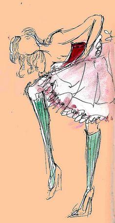 fashion sketch (copy) | by Kerry Mosley