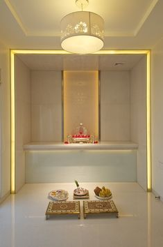 Simple tricks to build a Beautiful Pooja Room for Indian Homes # home plane indian, Simple Tricks to Build a Beautiful Pooja Room for Indian Homes Temple Room, Home Temple, Temple Design For Home, Mandir Design, Altar Design, Pooja Room Door Design, Puja Room, Indian Homes, False Ceiling Design