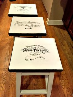 DIY Stool Makeovers - Reader Feature - The Graphics Fairy