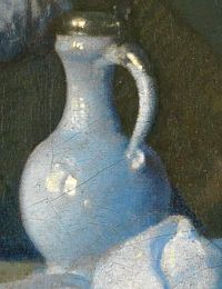 Glass of Wine (detail), by Johannes Vermeer (Dutch, 1632–1675).