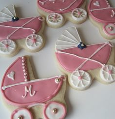 Baby Buggy Cookies~                      By nicety.livejournal, pink, white