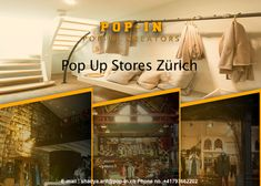Pop-in is a platform that provides you short-term commercial rentals to organize pop-up shops. To book a pop-up store in Zürich, visit our website.