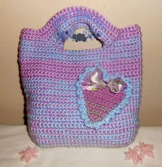 Pastel Hearts Classic Crochet Tote  bag by kathyskrochetnook, $31.00