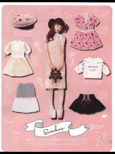 Gal Coordinates — If you're into the sweet girly trend/ larme kei. Harajuku Fashion, Japan Fashion, Kawaii Fashion, Cute Fashion, Fashion Outfits, Fashion Trends, Estilo Harajuku, Kei Visual, Ulzzang
