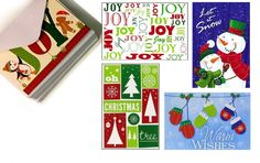 Good Old Fashioned Boxed Holiday Cards >> 32 Assorted Christmas Cards with Envelopes