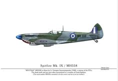 "SPITFIRE Mk IX ""MYSΤΡΑΣ"" - RHAF Us Military, Military History, Military Vehicles, Hellenic Air Force, French Colors, Supermarine Spitfire, Color Profile, Battle Of Britain, Aviation Art"