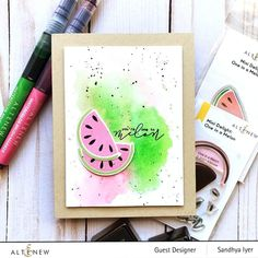 One In A Melon, Exotic Fruit, Altenew, Paper Pumpkin, Clear Stamps, Scrapbook Pages, Marker, Childhood Memories, First Love