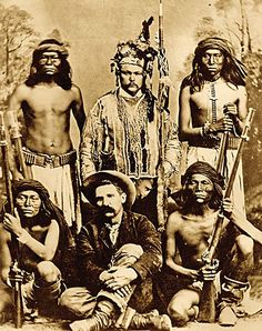 "Al Sieber ""Chief of Scouts"" surrounded by some of his intrepid Apaches.:"