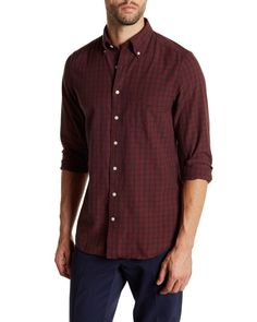 c13ea44f594 Gant Rugger | Red Bleecker Madras Checker Print Long Sleeve for Men | Lyst  Mens Sleeve