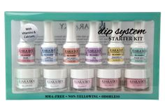 Give your clients stronger, more natural long-lasting and healthier nails with this dip system french starter kit from Kiara Sky! Manicure At Home, Nails At Home, Chipped Nail Polish, Gel Polish, Sky Nails, Pink Nails, Gliter Nails, Polygel Nails, Nail Polishes