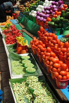 Market in San Cristobal,Venezuela - good color contrasting