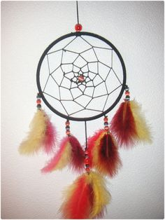 Dream catcher (tuto http://desideespleinlatete.free.fr/dotclear/index.php?post/2007/03/19/5-pour-faire-de-beaux-reves )