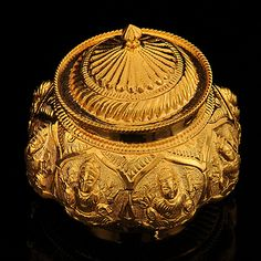 Gold Ashtalakshmi Kumkum Box