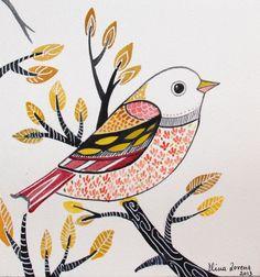 Ornament / Bird art / Decorative Art/ Wall Art/ by sublimecolors