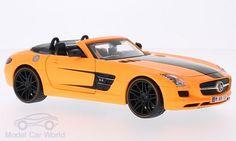 Mercedes SLS AMG Roadster, hellorange/schwarz
