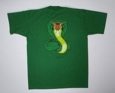 80s Cobra T Shirt Green soft thin tee M punk by JaybrrdsWhatnots