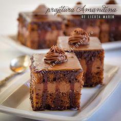 Din bucătăria mea: Prajitura Amandina Sweets, Cake, Recipes, Food, Dessert Food, Pastries, Fine Dining, Romania, Romanian Recipes