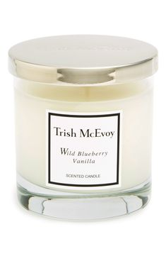 This luxurious wild blueberry vanilla scented candle instantly sets a warm, irresistible mood while exuding scent even when unlit.
