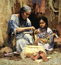 Native American Women Art | Art of the Native American Women: The Teachings of My Grandmother
