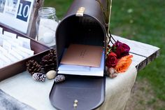 mailbox for wedding cards. Love this idea! You can decorate it the way you want.