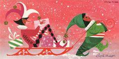 Ralph Hulett illustrated Christmas Card