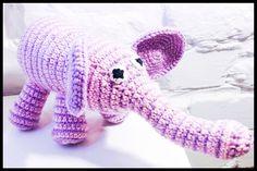 Crochet elephant - hæklet elefant #obber