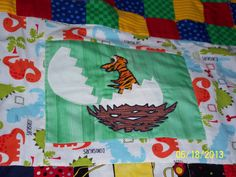 another pic of Triston's dinosaur quilt Quilt Making, Quilts, Outdoor, Outdoors, Quilt Sets, Outdoor Games, Log Cabin Quilts, The Great Outdoors, Quilting