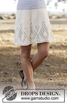 White Diamond skirt knitting pattern