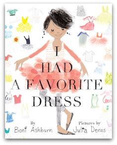 about a girl who has a favorite dress she outgrows and her and her mother cut it up to use for other things...