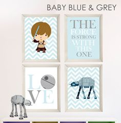 Baby Boy Star Wars Nursery Art- Boy Room Decor - 4 Print Set - Star Wars Decor - Baby Shower Gift - Nursery Play Room - Boy Wall Art. We found the one! Love this for our little man's nursery.