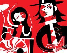 White Stripes - Ilustrações de Pablo Lobato