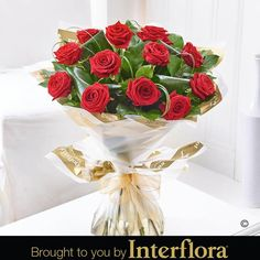 12 Luxury Long Stem Rose. Premium quality, long-stemmed #RedRoses are the epitome of Valentine's Day elegance. Here we've carefully selected the finest large-headed roses, along with bear grass, folded aspidstra leaves and salal to create an exquisite hand-tied bouquet, and a very stylish #ValentinesDay gift.