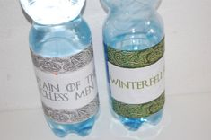 Wasserflaschen Fountain of the Faceless Men Winterfell Spring Game of Thrones Party The Faceless, Game Of Thrones Party, Fountain, Water Bottle, Drinks, Spring, Twin Girls, Birthday, Drinking