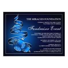 Fundraiser Invitation Templates Festive Christmas Open House Invitations Template  Cool Products .