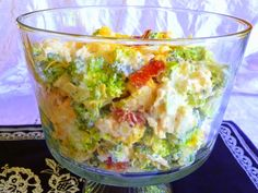 "AMISH BROCCOLI SALAD Courtesy of ""Splendid Low Carbing"" This delightful salad lends itself to some wonderful ideas for variations, s. Amish Recipes, Diabetic Recipes, Low Carb Recipes, Great Recipes, Cooking Recipes, Favorite Recipes, Healthy Recipes, Diabetic Salads, Salad Recipes"
