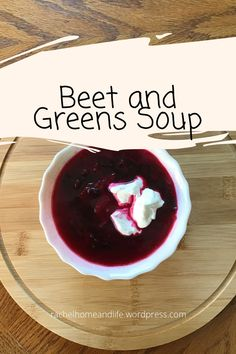 This Beet and greens soup with the flavor of sweet roasted beets combined with dill and a tangy balsalmic vinegar will become a favorite! #recipe #food #soup #beets #beetroot Stew Meat Recipes, Chilli Recipes, Crockpot Recipes, Easy Chilli, Beet Soup, Roasted Beets, Cheese Soup, Beetroot, Coconut Cream