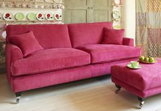 Florence large-sofa in Vogue Pistachio - Sofa Workshop