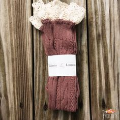 Our Knee High Boot Sock with Lace Crochet Detail is guaranteed to keep you warm and stylish. One Size Fits All. Available in Raisin, Grey, and Black.